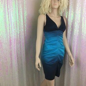 Sexy blue ombre Dress. EUC. Size 2